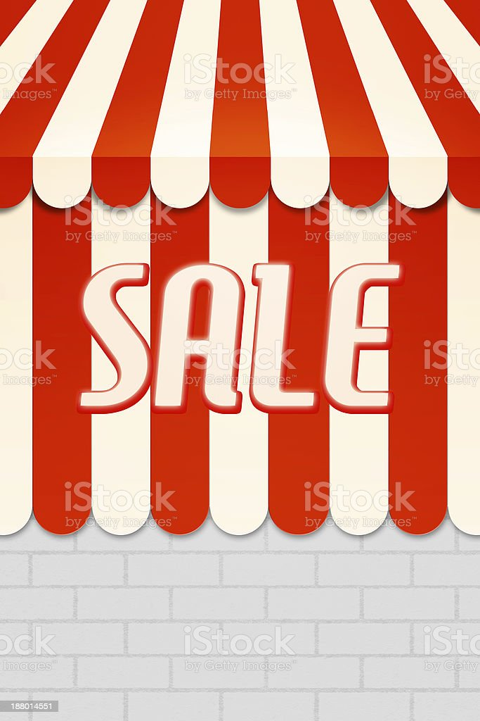 Sale Awning royalty-free stock photo