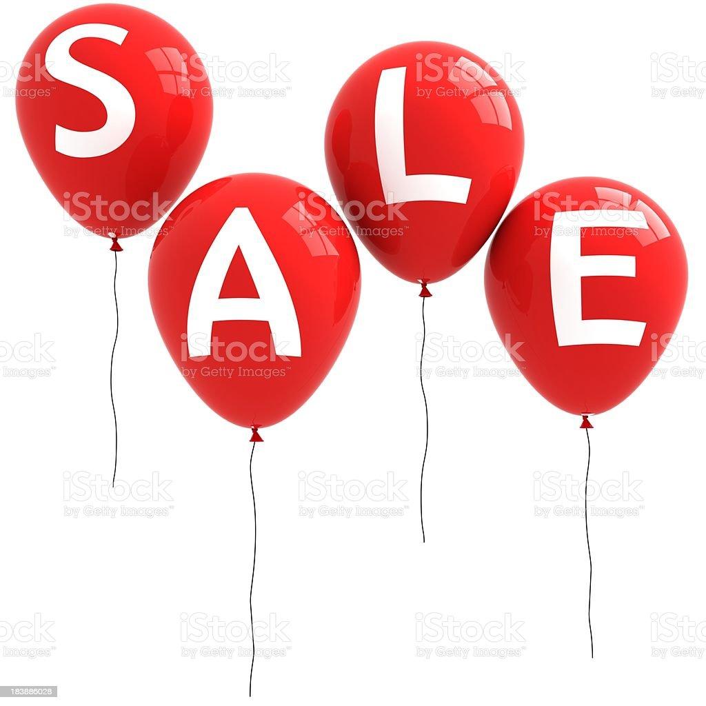 Sale Balloons royalty-free stock photo