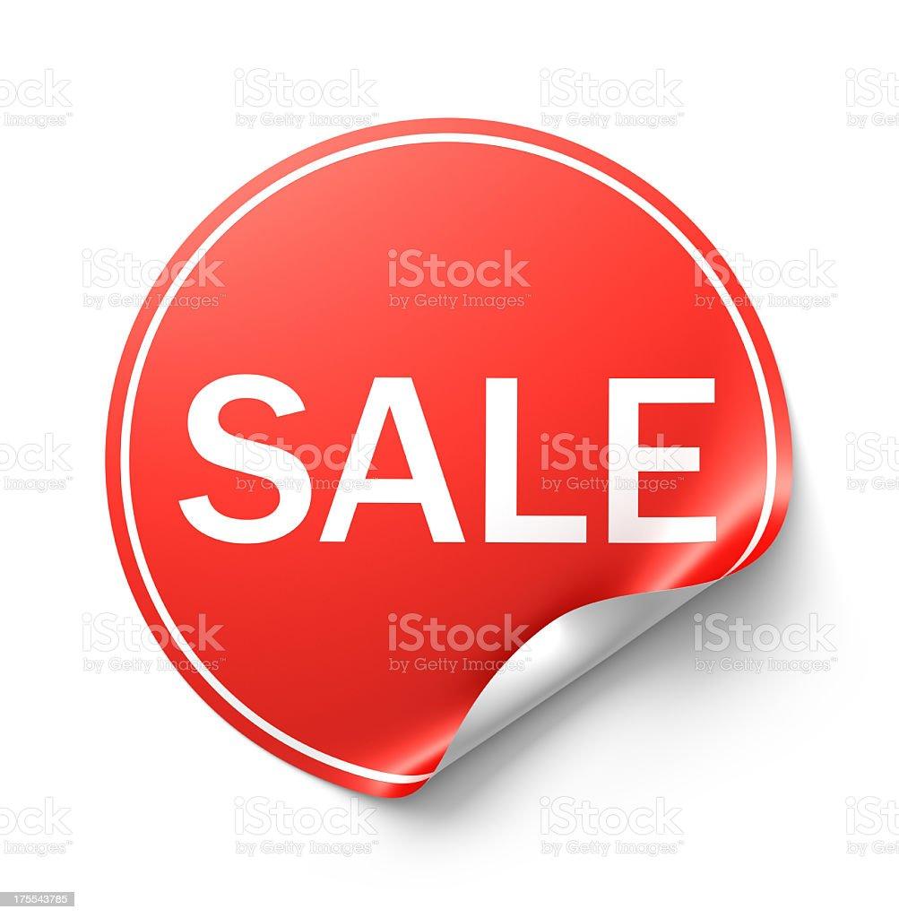 Sale Circular Sticker stock photo