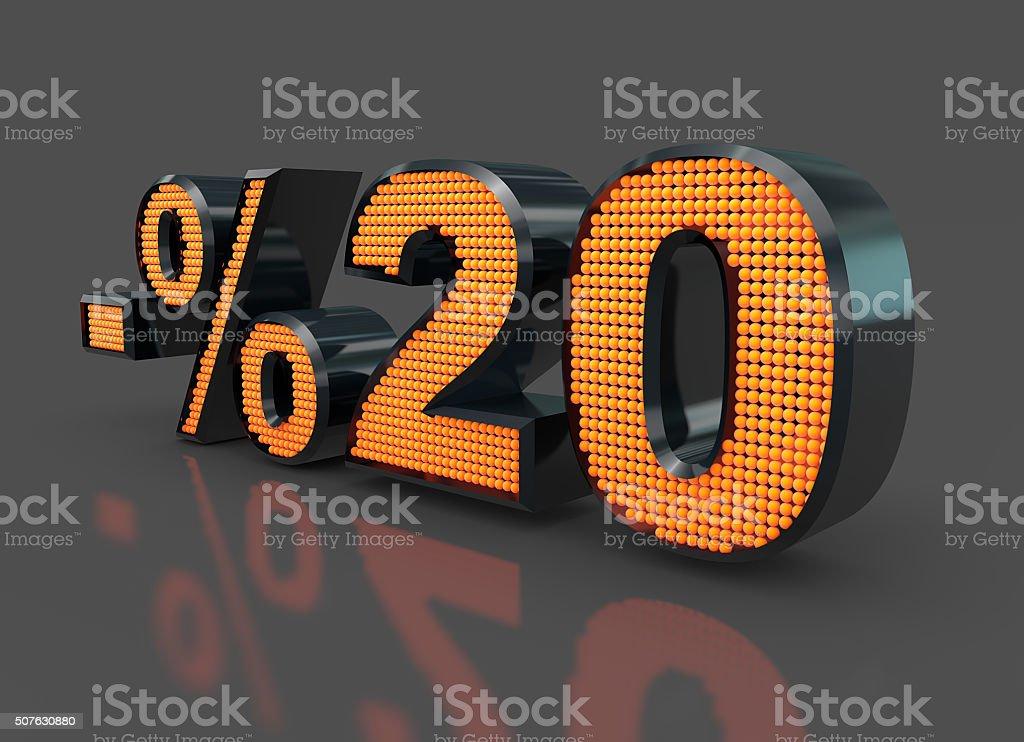 Sale Concept %20 stock photo