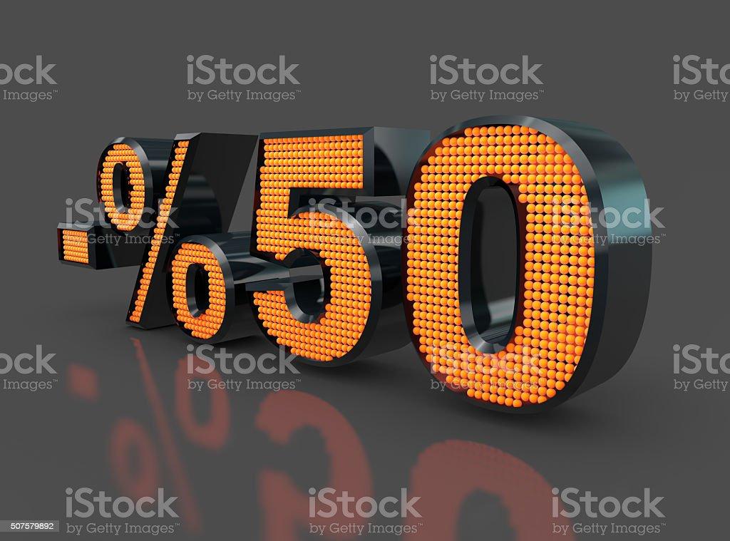 Sale Concept %50 stock photo