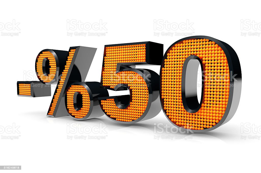 Sale Concept %50 stock photo