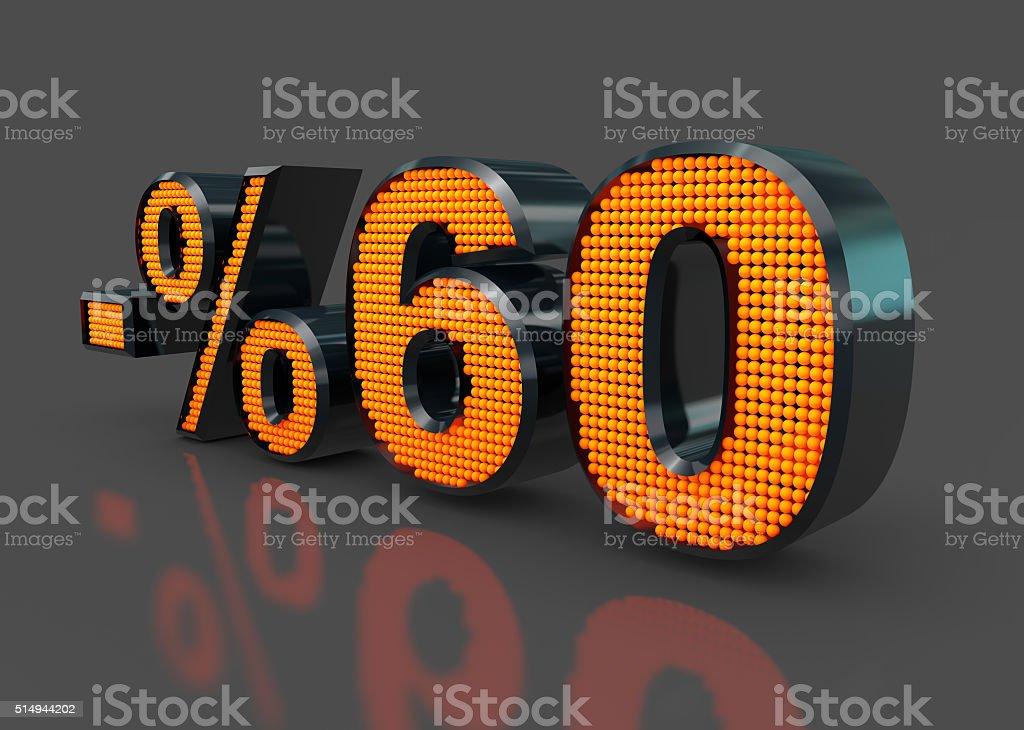 Sale Concept %60 stock photo