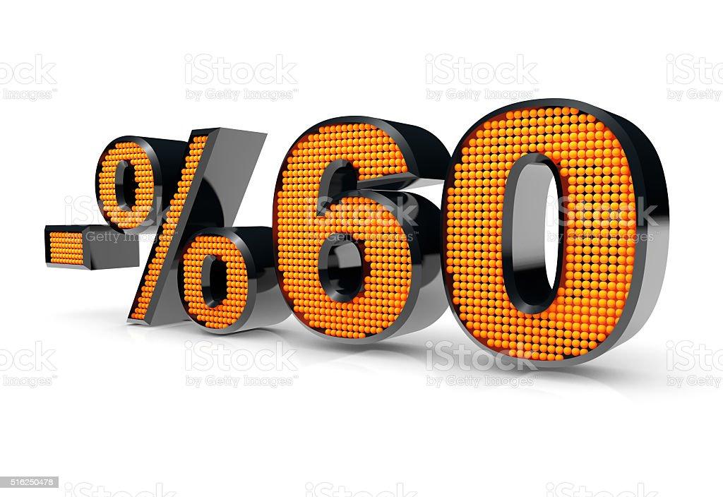 Sale Concept %60 stock photo