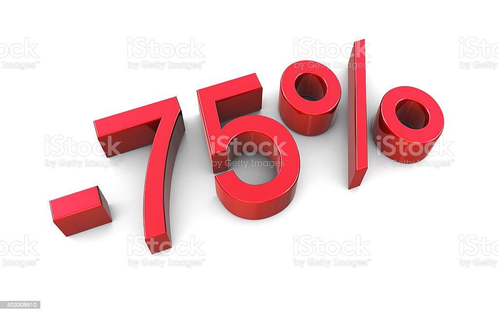 Sale Concept %75 stock photo