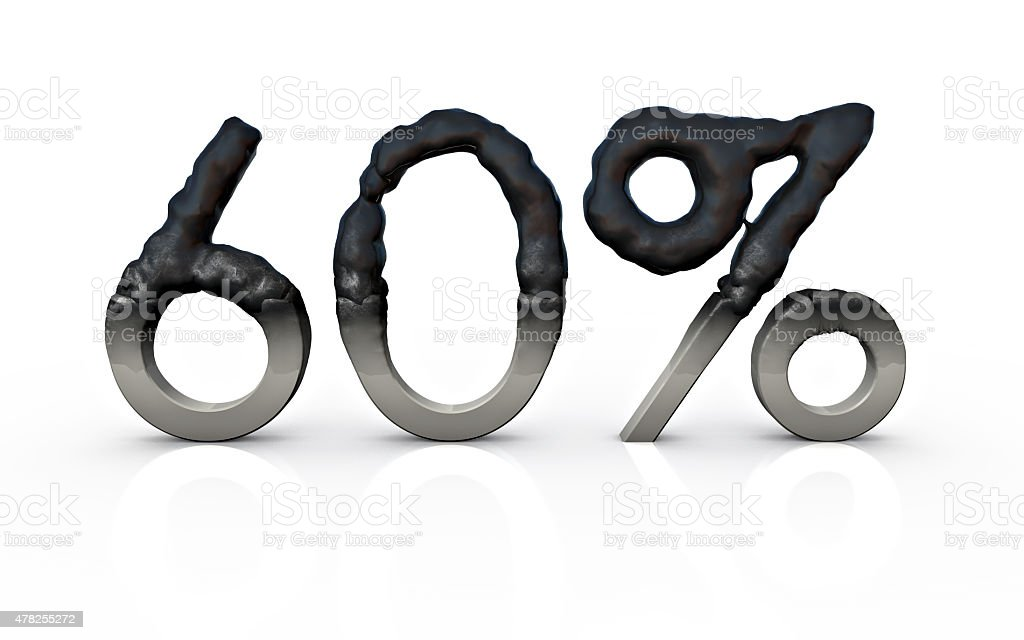 Sale Concept Burned stock photo