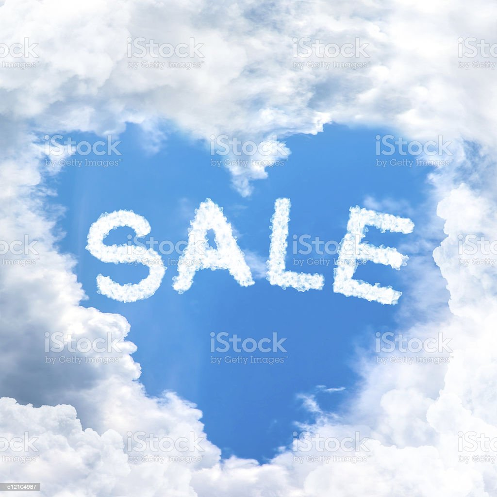 sale discount concept tell by shy cloud nature stock photo