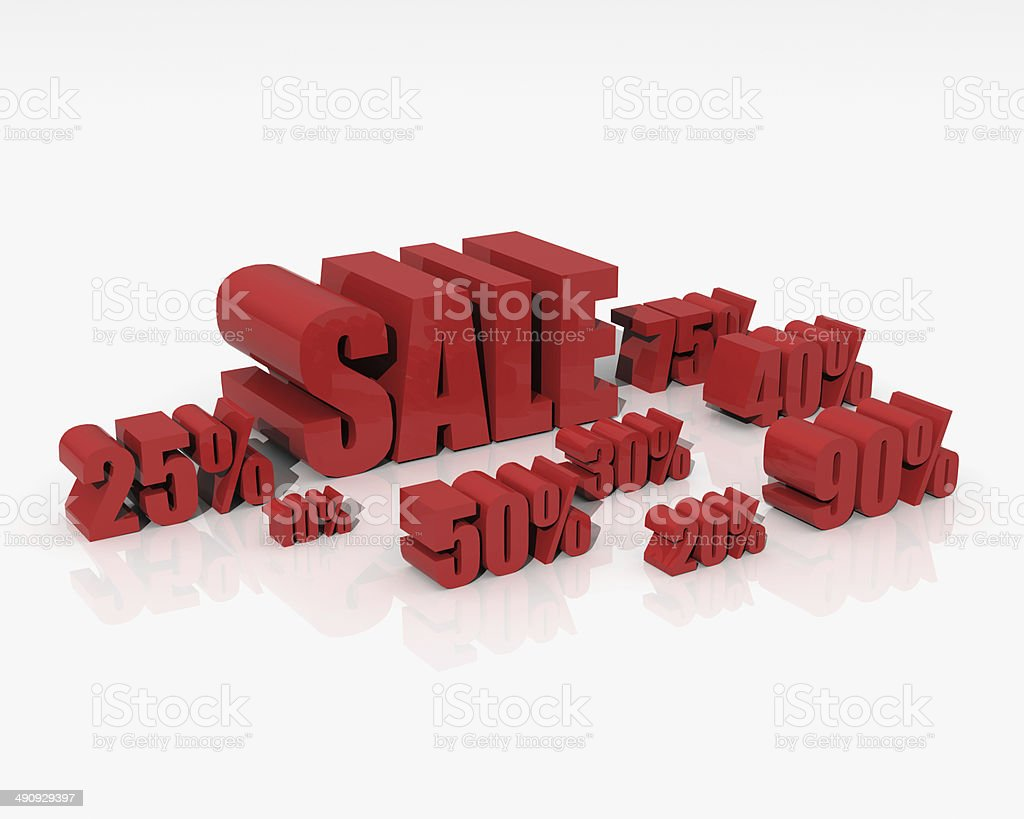 Sale discount set stock photo