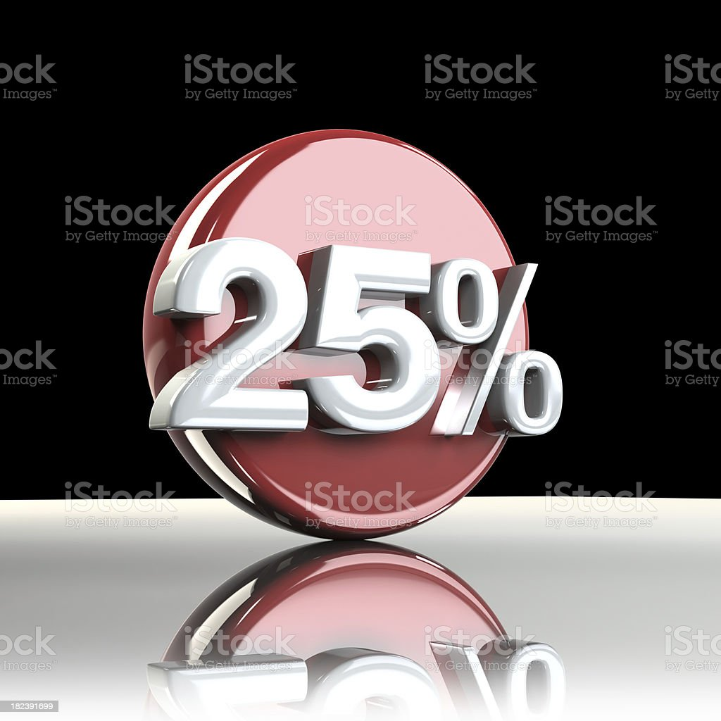 Sale Graphic 25% royalty-free stock photo