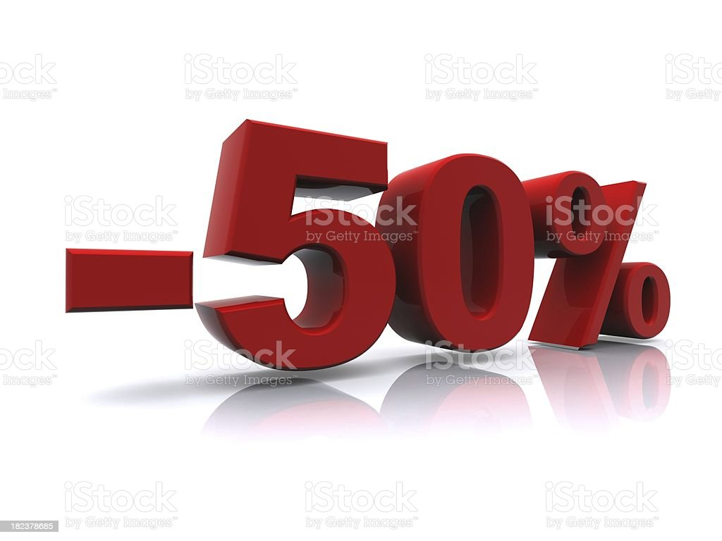 50% sale high resolution rendering royalty-free stock photo