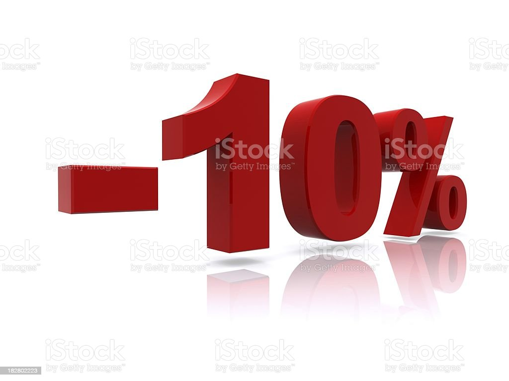 10% sale high resolution rendering royalty-free stock photo