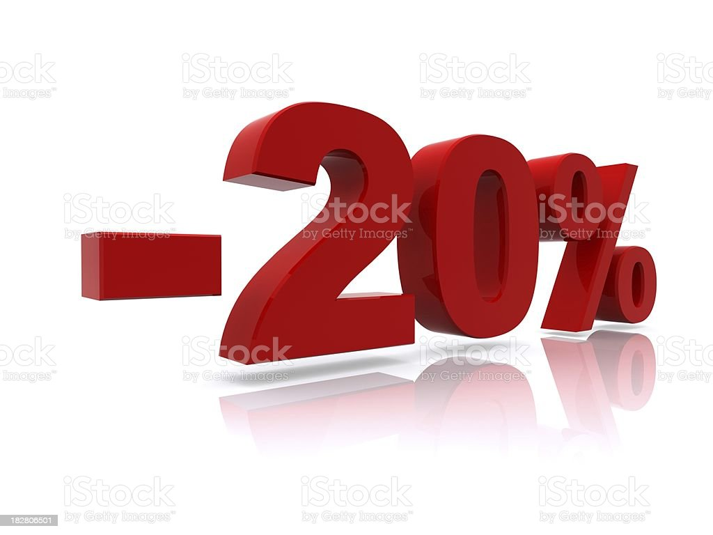 20% sale high resolution rendering royalty-free stock photo