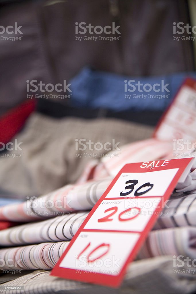Sale items. royalty-free stock photo