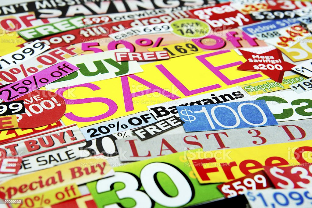 Sale Montage royalty-free stock photo