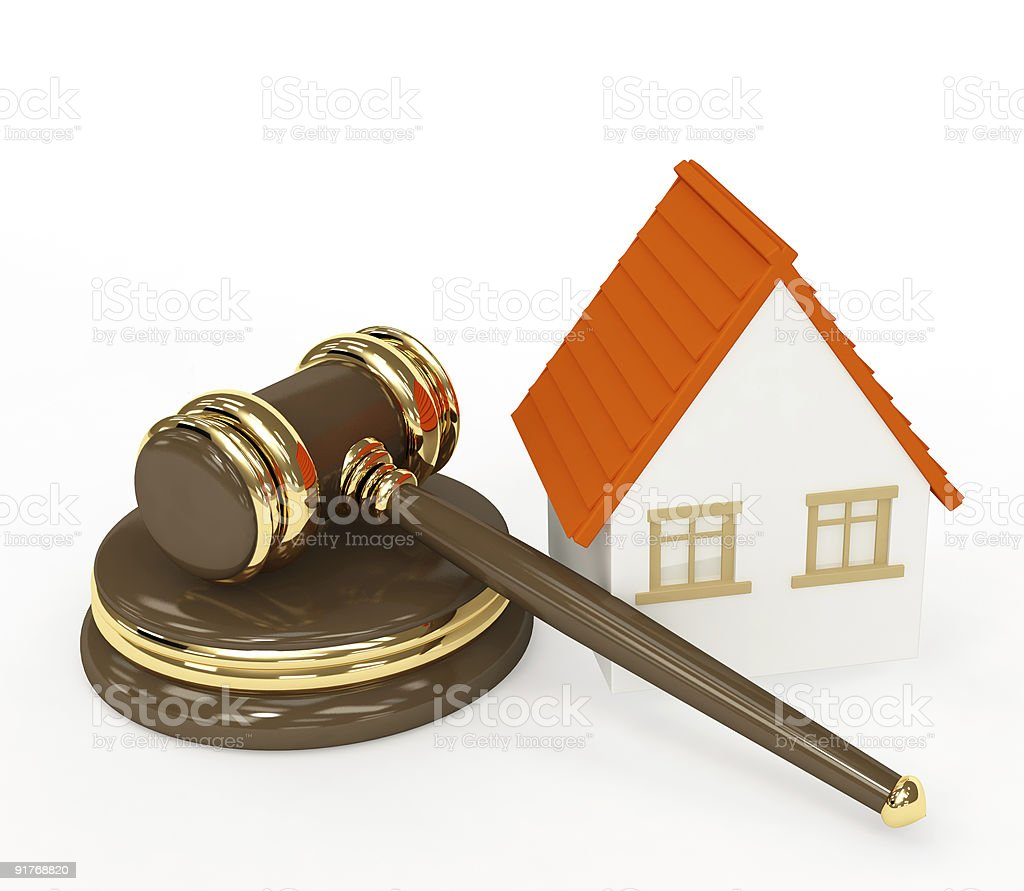 Sale of a house royalty-free stock photo