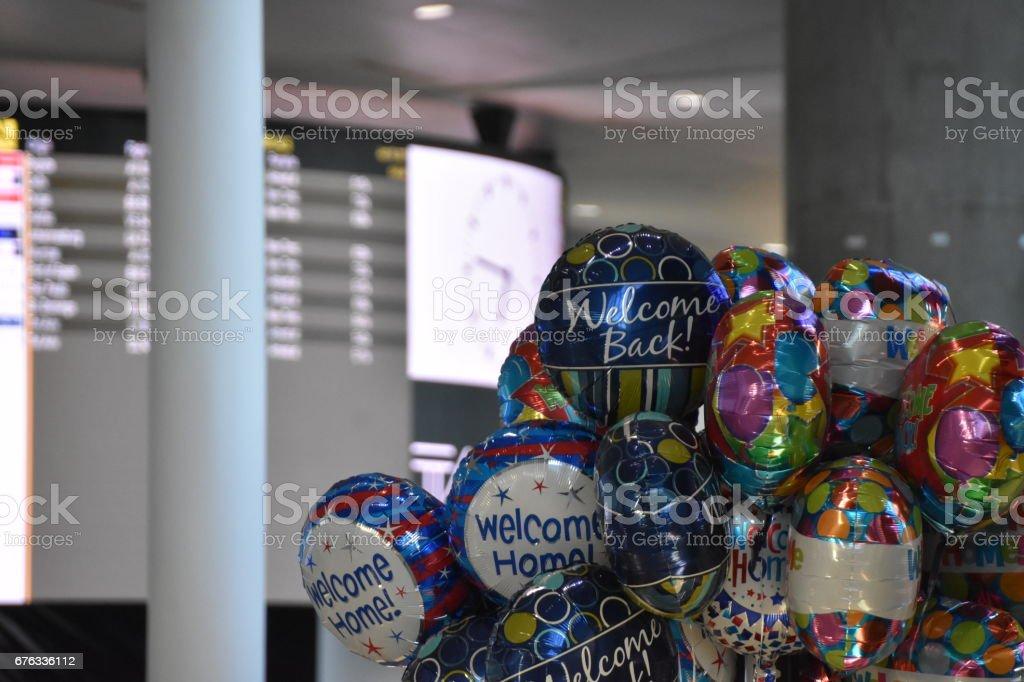 Sale of balloons stock photo