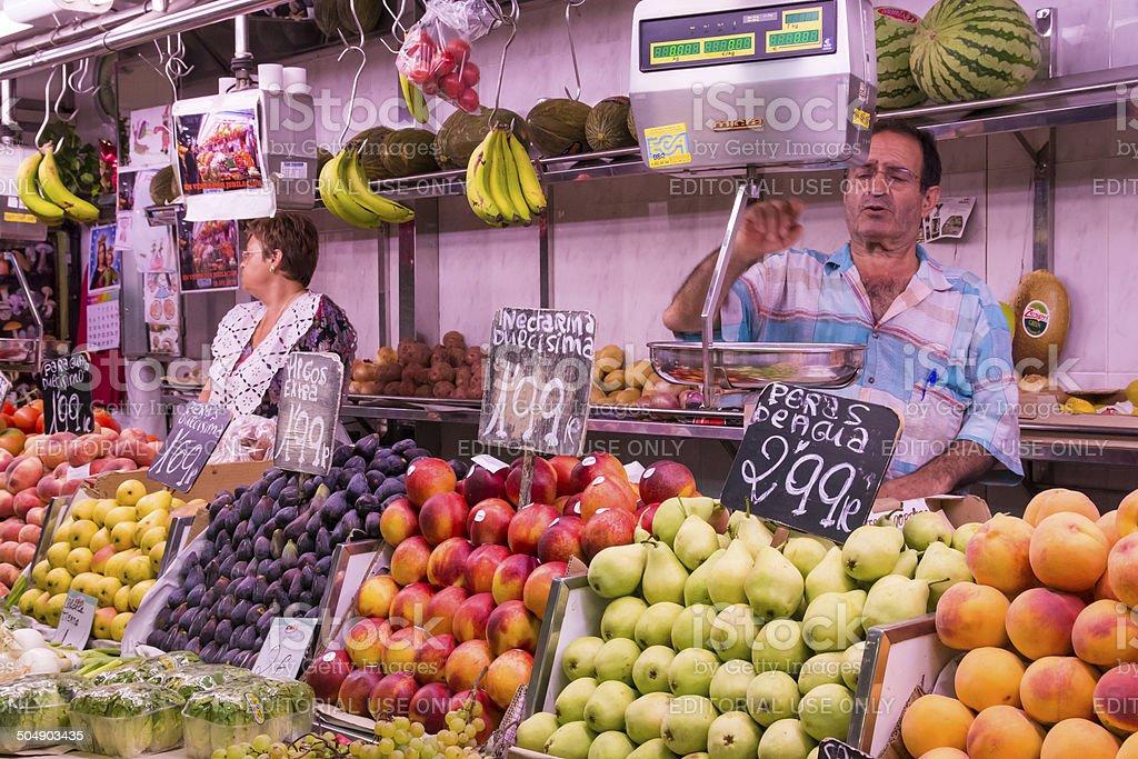 Sale of fruit stock photo