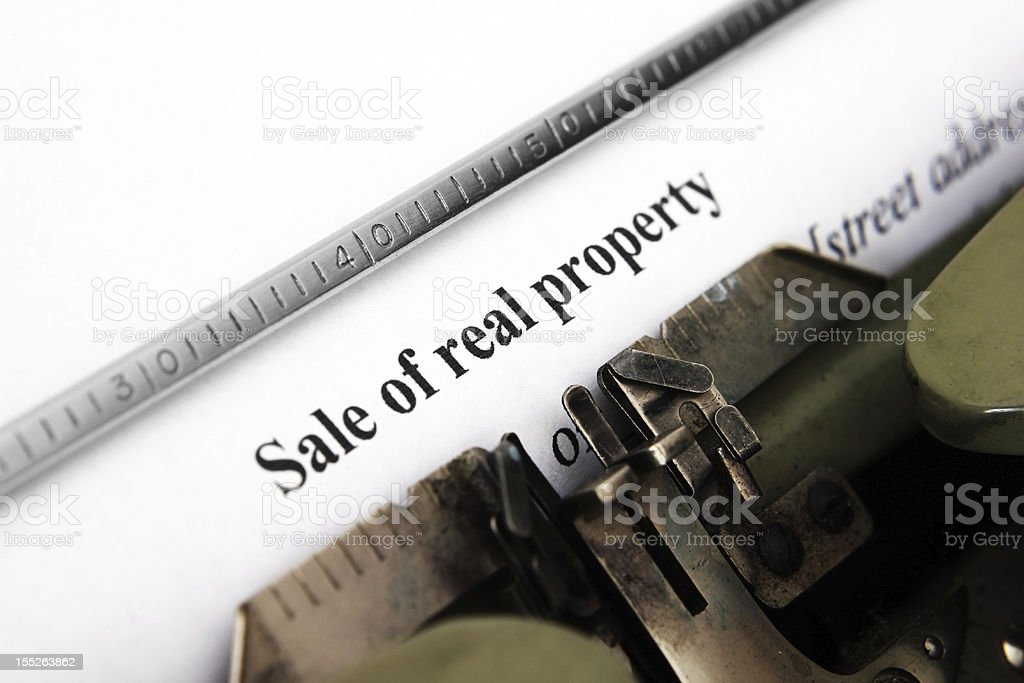 Sale of real property form royalty-free stock photo