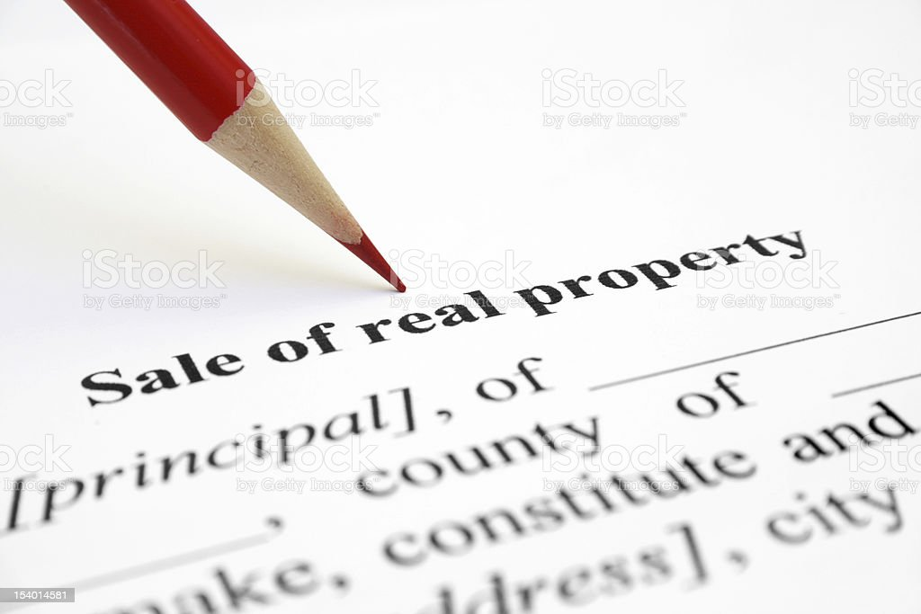 Sale of real property royalty-free stock photo