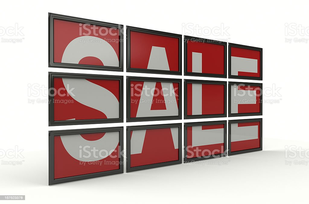 Sale On Screens royalty-free stock photo