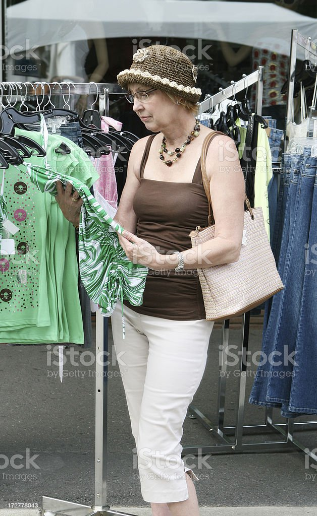Sale on sidewalk royalty-free stock photo