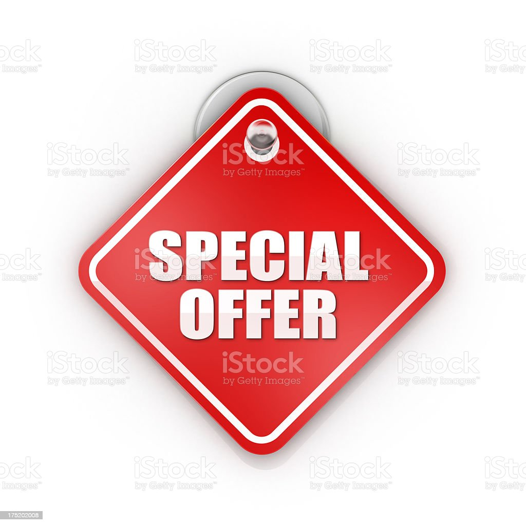Sale or Special offer Sticky label stock photo