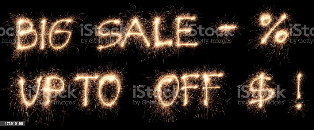 Sale package royalty-free stock photo