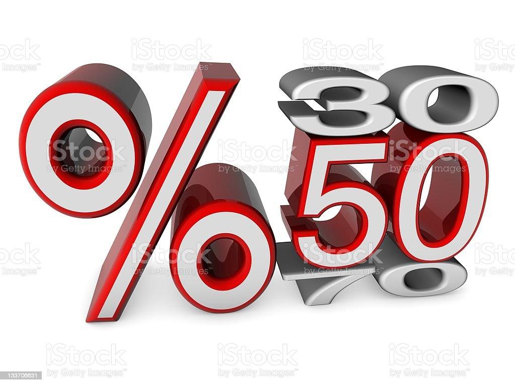 % 50 Sale royalty-free stock photo