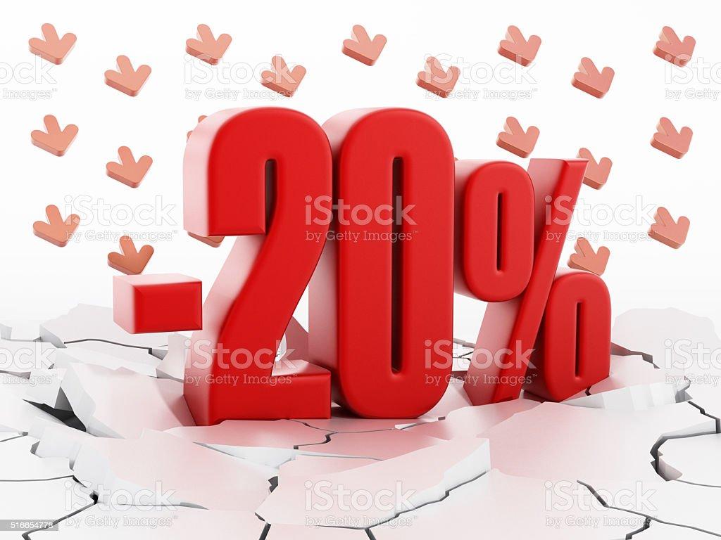 -20% sale stock photo