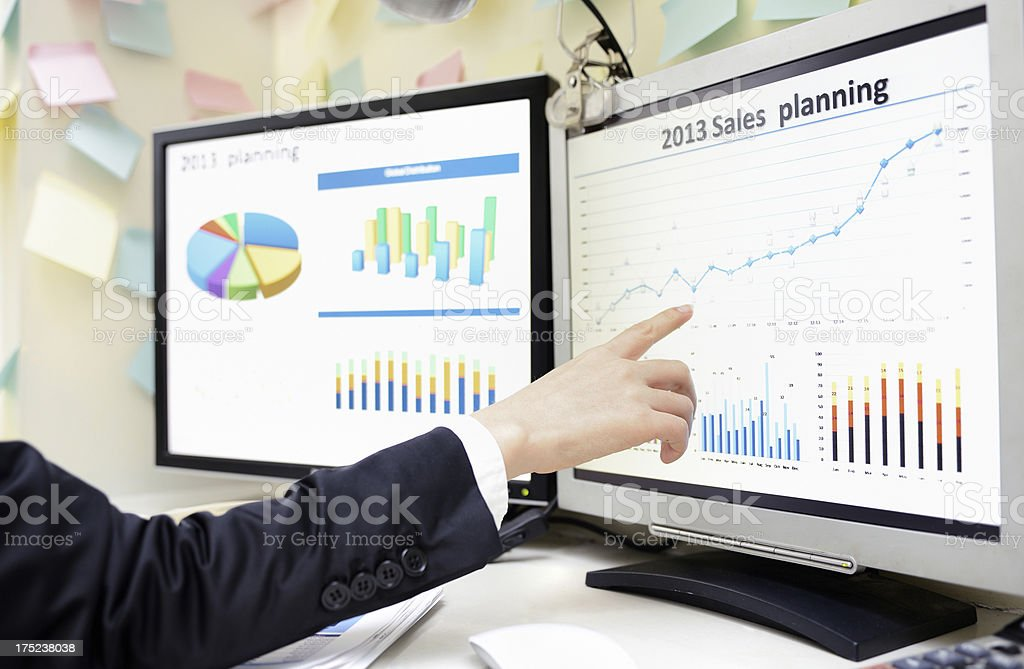 Sale planning royalty-free stock photo