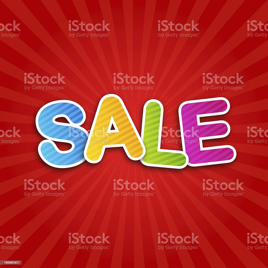 sale poster stock photo