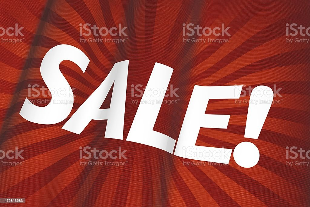 Sale Red Flag 3D royalty-free stock photo