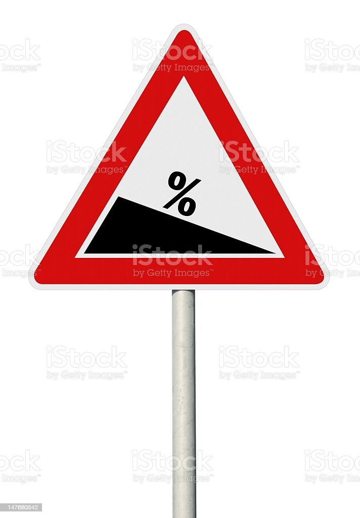Sale road warning sign royalty-free stock photo