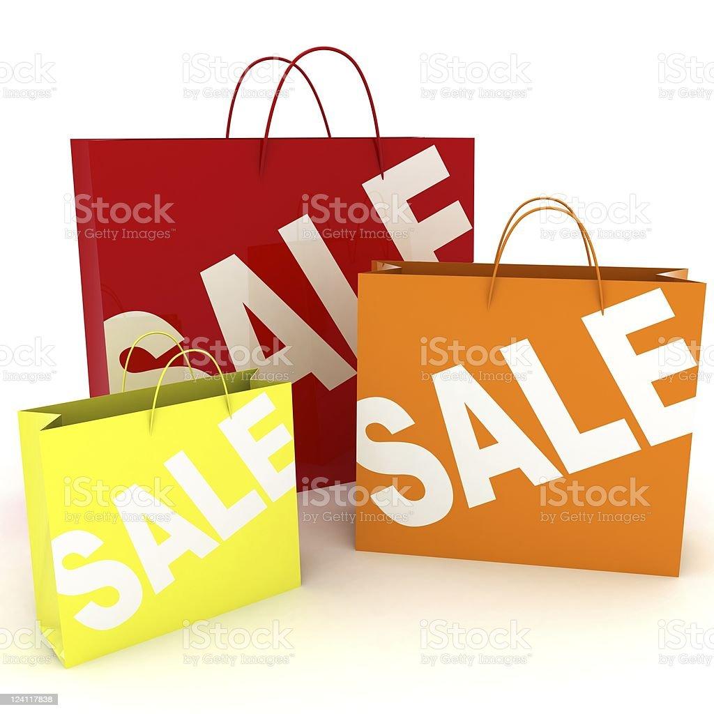 Sale Shopping Bag royalty-free stock photo