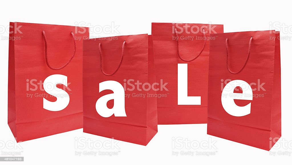 Sale shopping bags stock photo