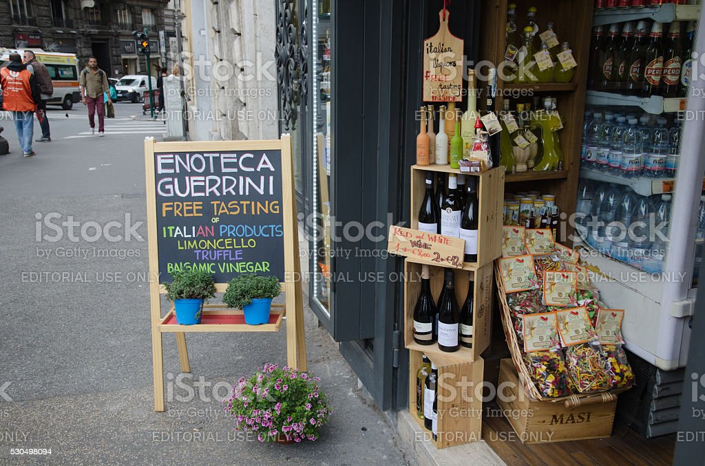 Sale sign in Rome, Italy stock photo