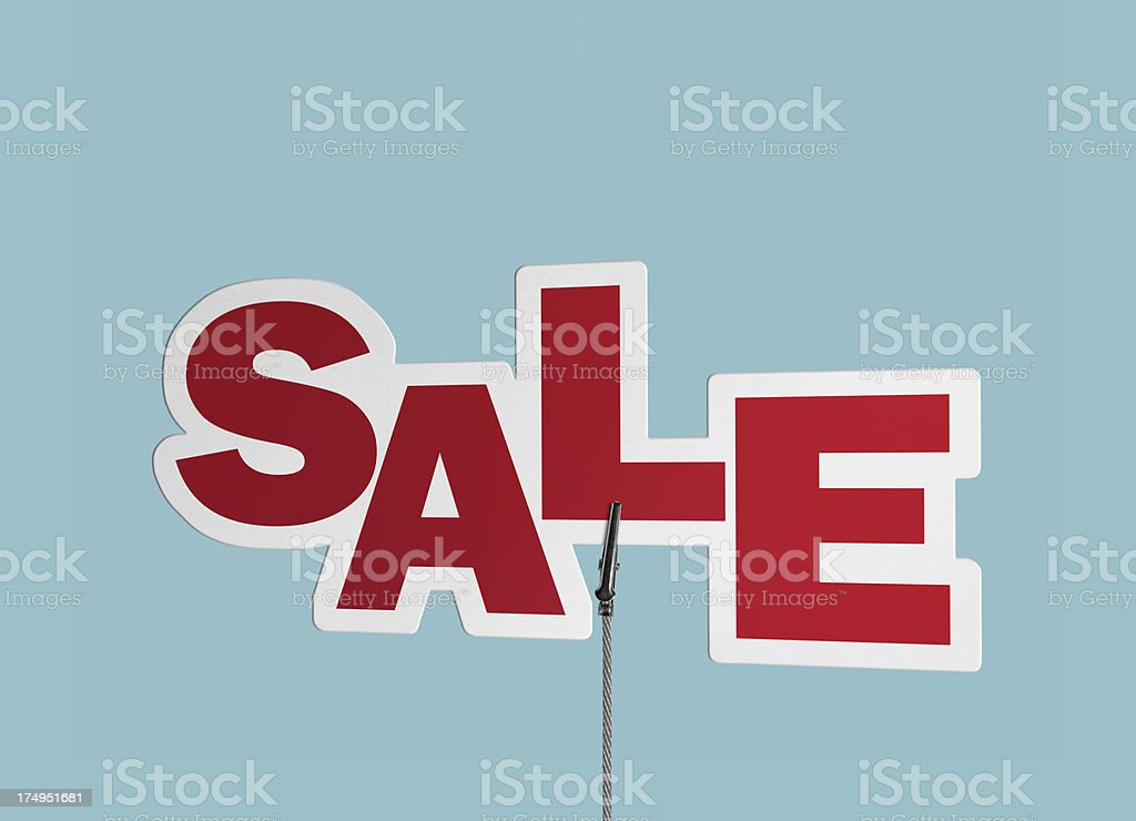 Sale, Speech Bubble in Wire Clam (Clipping Path) royalty-free stock photo