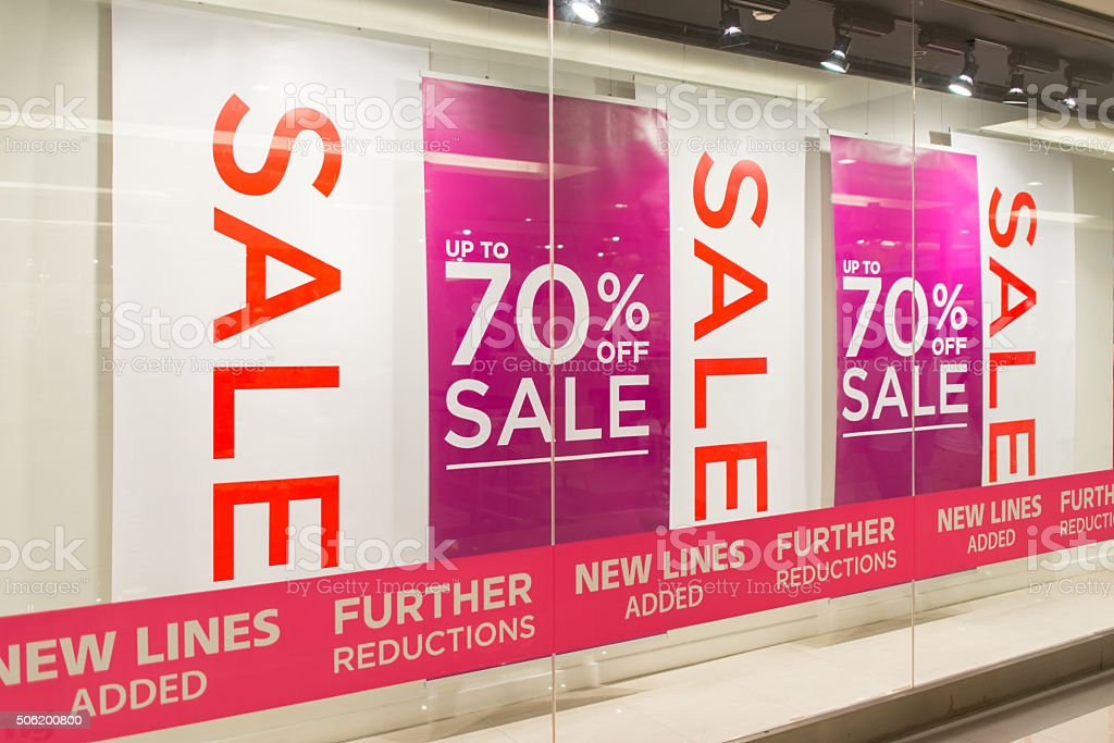 Sale Store, shopping mall abstract defocused blurred background stock photo