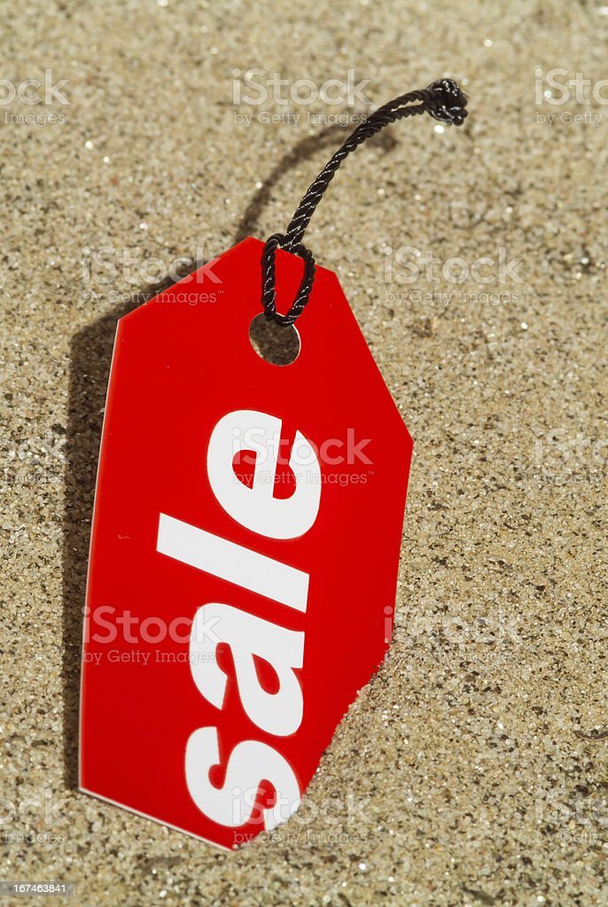 Sale Tag Summer Concept royalty-free stock photo