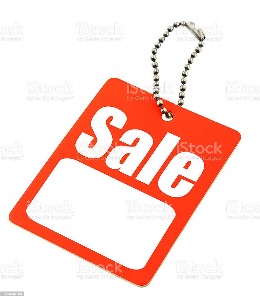 Sale tag with copy space royalty-free stock photo