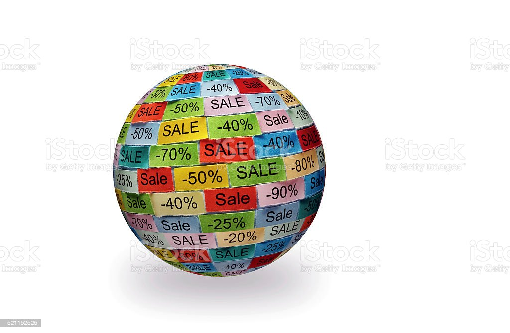 sale  tagcloud 3d ball stock photo