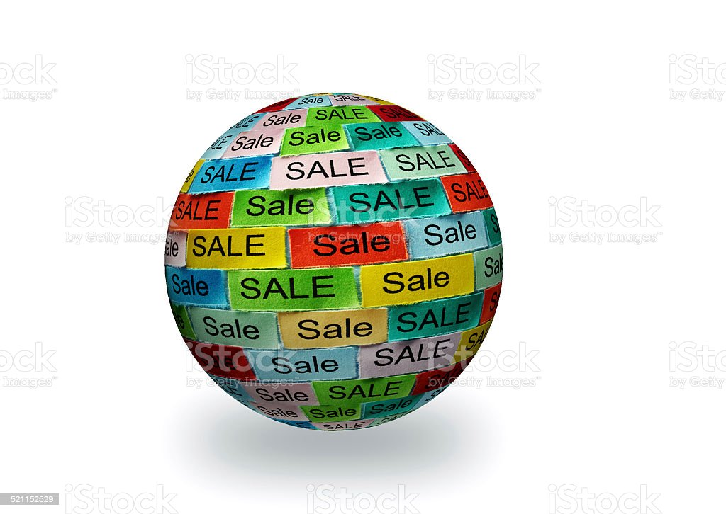 sale  tagcloud 3d sphere stock photo