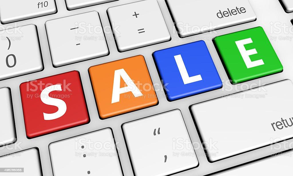 Sale Web Shopping Marketing stock photo
