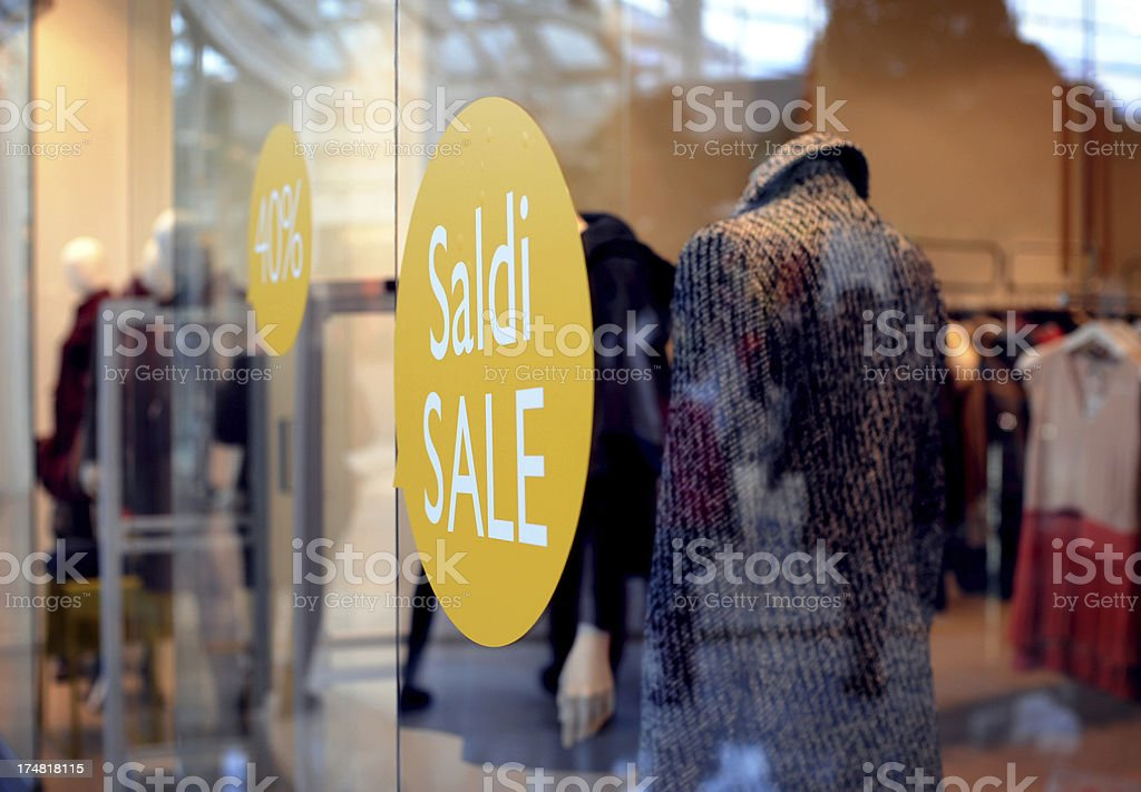 Sale window display royalty-free stock photo
