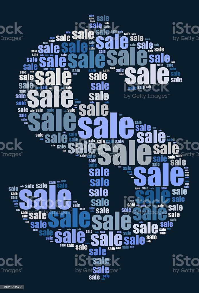 Sale word cloud concept stock photo