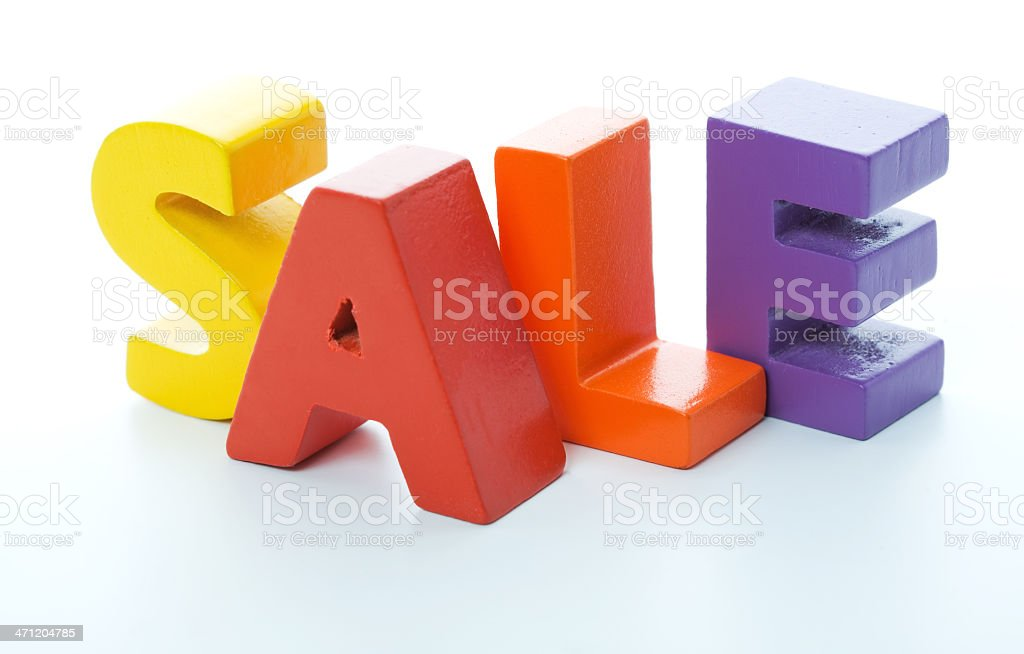 Sale Word Letters Studio Isolated royalty-free stock photo