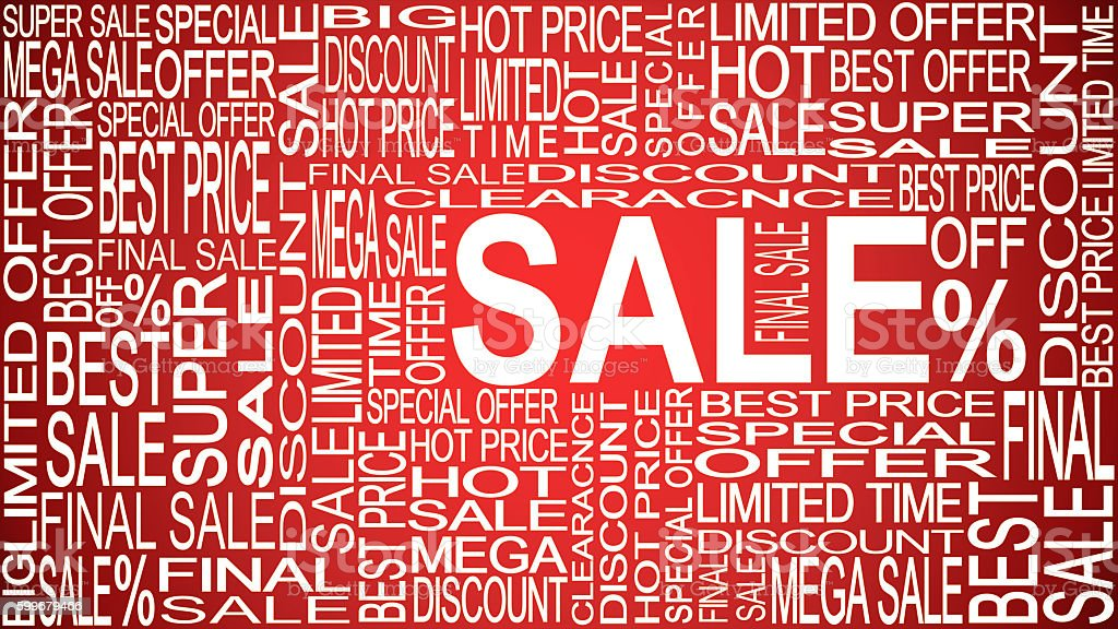 Sale words. Sales promotional. Store Sale concept. stock photo