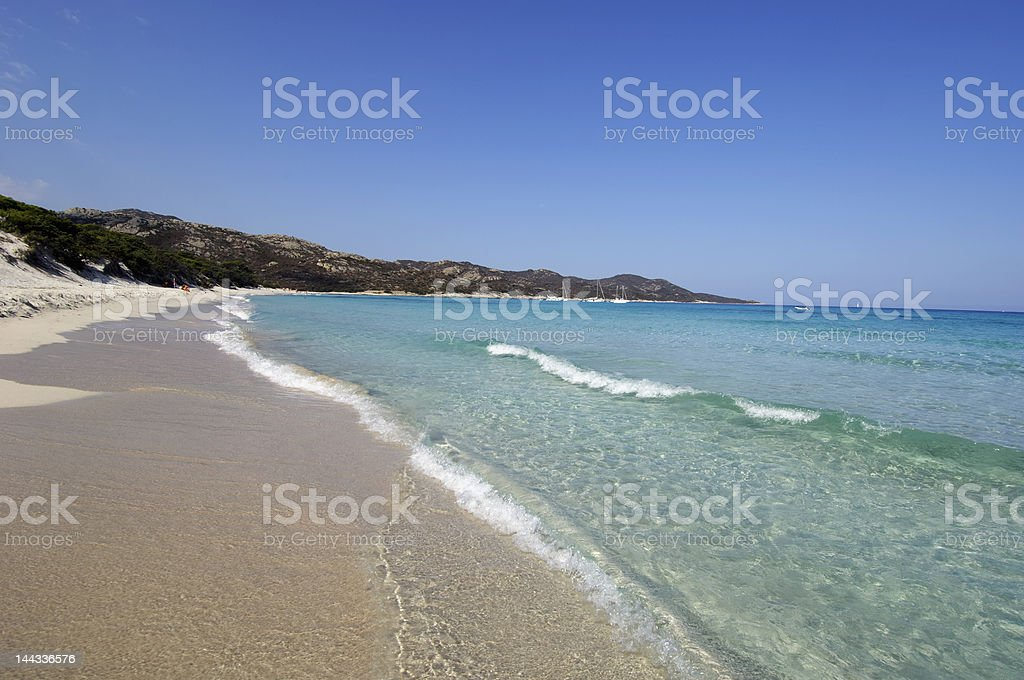 Saleccia beach royalty-free stock photo