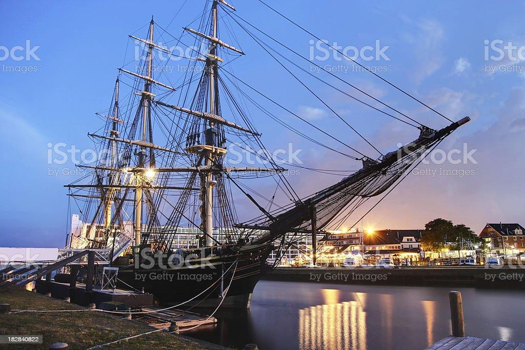 Salem Harbor stock photo