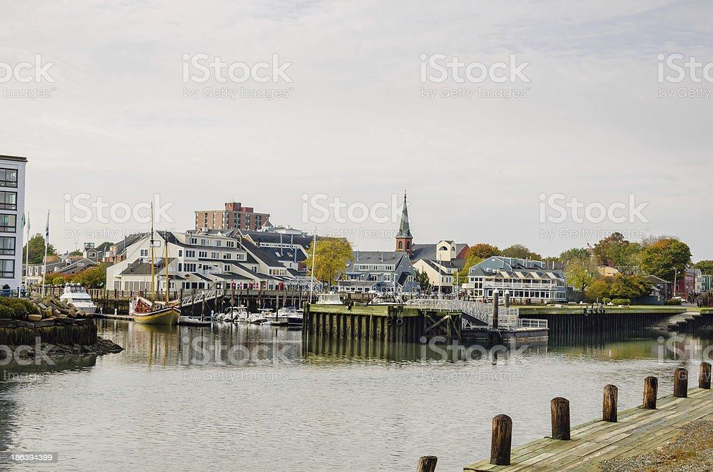 Salem Harbour in Autumn stock photo
